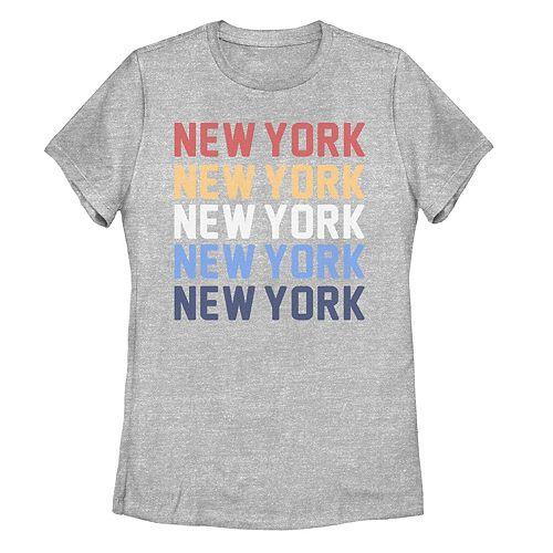 Juniors' New York Stack Graphic Tee