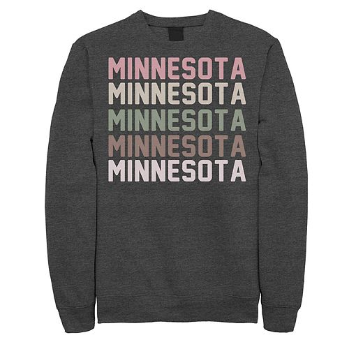 Juniors' Minnesota Stack Graphic Sweatshirt