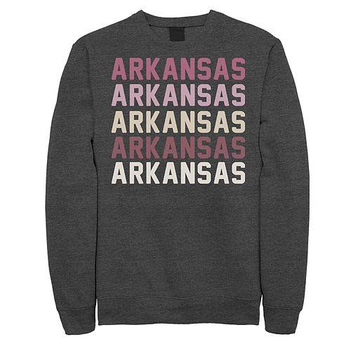 Juniors' Arkansas Stack Graphic Sweatshirt