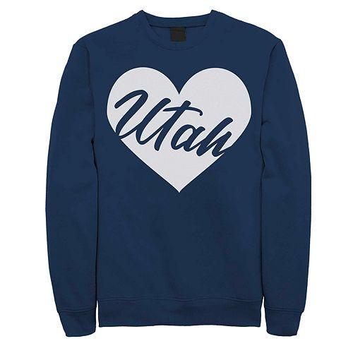 Juniors' Utah Heart Graphic Sweatshirt