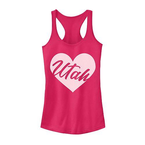 Juniors' Utah Heart Graphic Tank