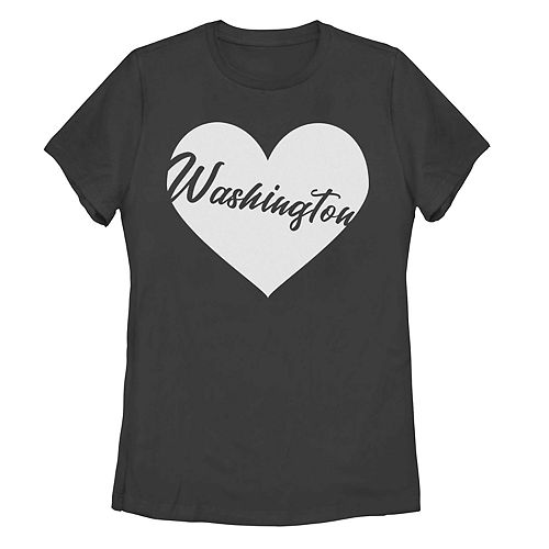 Juniors' Washington State Heart Graphic Tee