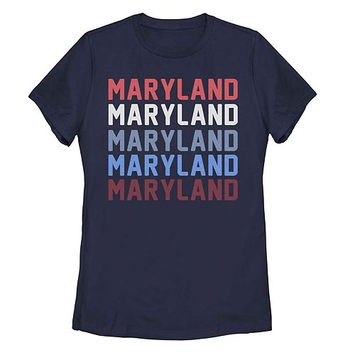 Juniors' Maryland State Graphic Tee