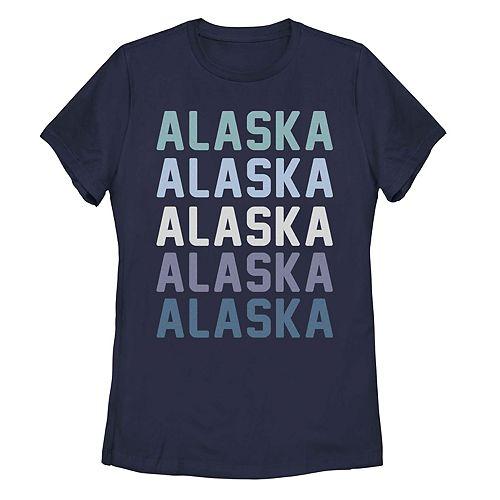 Juniors' Alaska State Graphic Tee