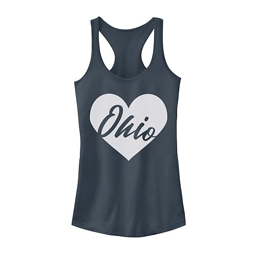 Juniors' Ohio Heart Racerback Graphic Tank