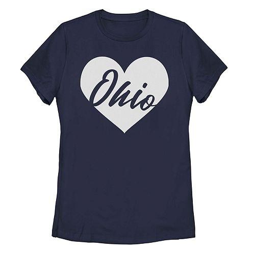Juniors' Ohio Heart Graphic Tee
