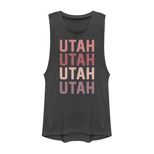 Juniors' Utah State Graphic Muscle Tank
