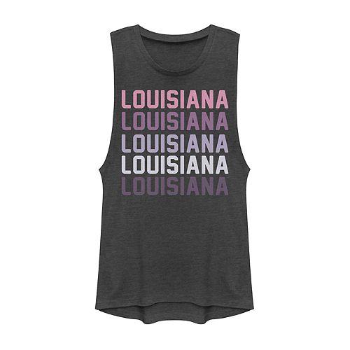 Juniors' Louisiana State Graphic Muscle Tank