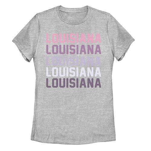 Juniors' Louisiana State Graphic Tee