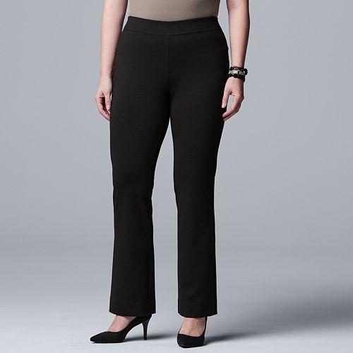 Plus Size Simply Vera Vera Bootcut Ponte Pants