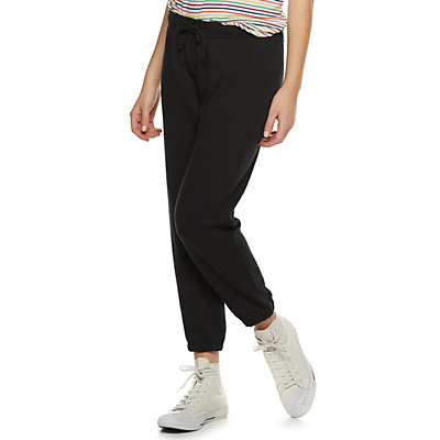 Juniors' SO® Cropped Cinch Jogger Sweatpants