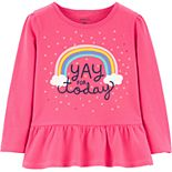 Baby Girl Carter's Sequin Rainbow Peplum Top
