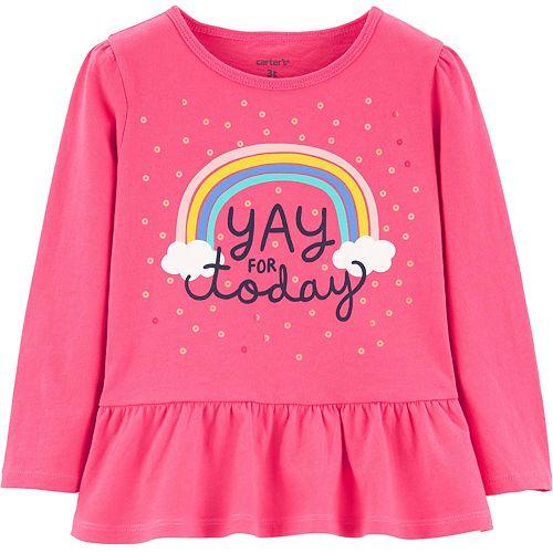 Baby Girl Carter's Sequin Rainbow Peplum Top