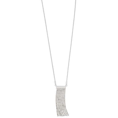 Nine West Pave Tassel Pendant Necklace