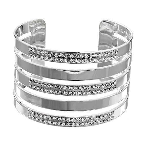 Nine West Wide Pave Cuff Bracelet