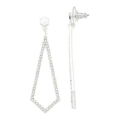Nine West Pave Geometric Drop Earrings