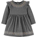 Baby Girl Carter's Glitter Heart Jersey Dress