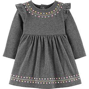 Baby Girl Carter's Glitter Heart Jersey Dress