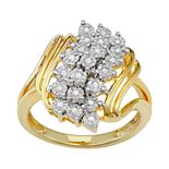 14k Gold Over Silver 1/10 Carat T.W. Diamond Ring