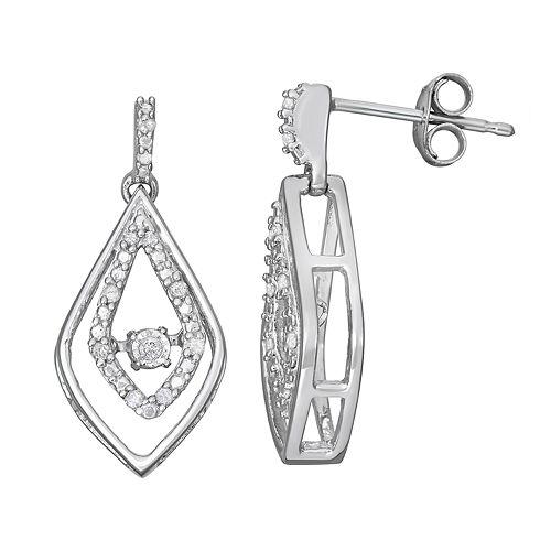 Sterling Silver 1/10 Carat T.W. Diamond Dangle Earrings