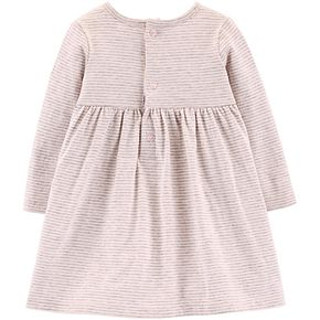 Baby Girl Carter's Striped Unicorn Jersey Dress