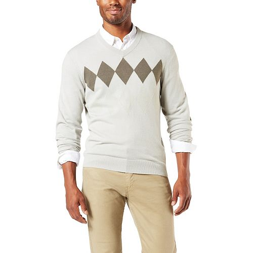 Men's Dockers® Soft Argyle V-Neck Sweater