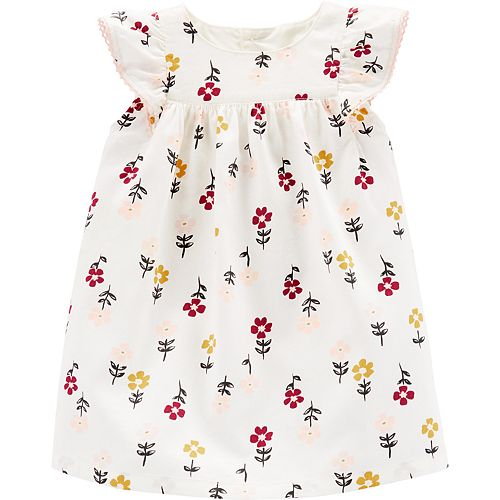 Baby Girl Carter's Floral Twill Dress