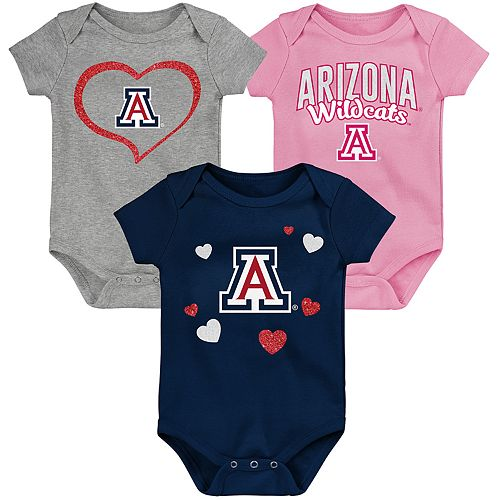 "Girl's NCAA Arizona Wildcats Baby ""Champ"" Bodysuit 3-Pack"