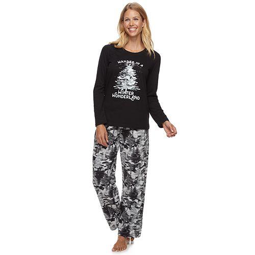 Women's Jammies For Your Families Camo Family Tee & Pants Pajama Set