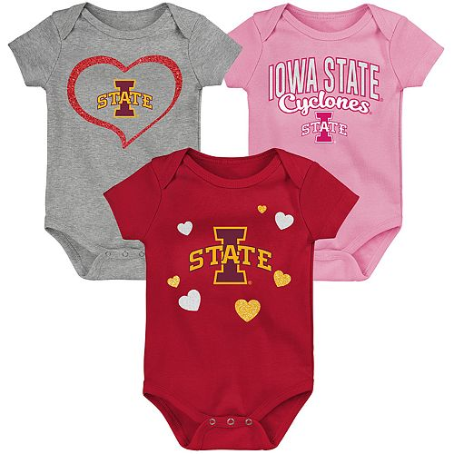 "Girl's NCAA Iowa State Cyclones Baby ""Champ"" Bodysuit 3-Pack"