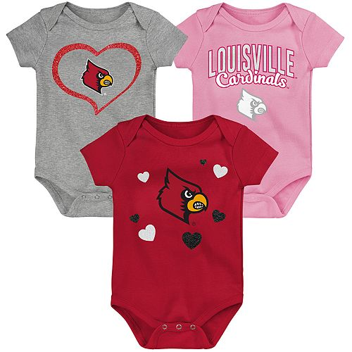 "Girl's NCAA Louisville Cardinals Baby ""Champ"" Bodysuit 3-Pack"