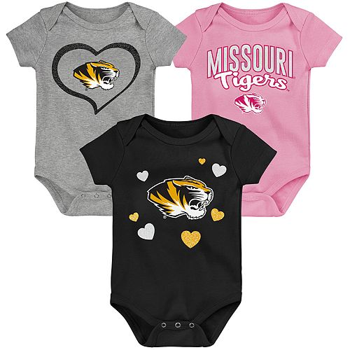 "Girl's NCAA Missouri Tigers Baby ""Champ"" Bodysuit 3-Pack"