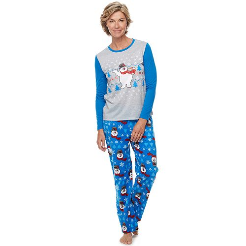 Women's Jammies For Your Families Frosty the Snowman Top & Bottoms Pajama Set