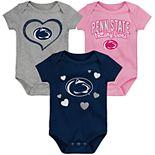 "Girl's NCAA Penn State Nittany Lions Baby ""Champ"" Bodysuit 3-Pack"