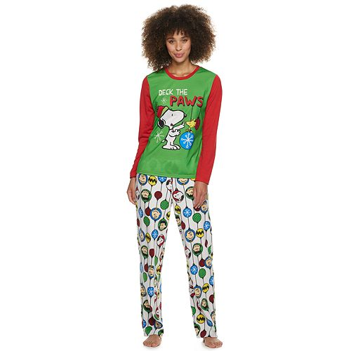 Women's Jammies For Your Families Peanuts Snoopy Top & Bottoms Pajama Set