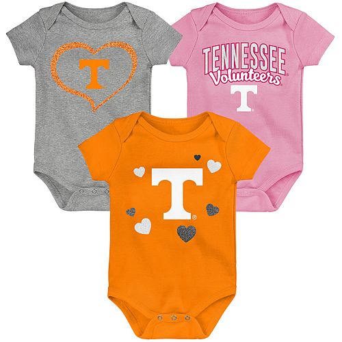 "Girl's NCAA Tennessee Volunteers Baby ""Champ"" Bodysuit 3-Pack"