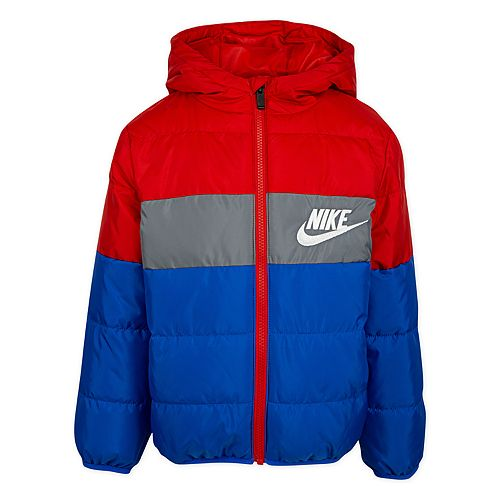 Boys 4-7 Nike Colorblock Logo Puffer Jacket