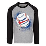 Boys' 4-7 Nike Long Sleeve Baseball Graphic T-Shirt