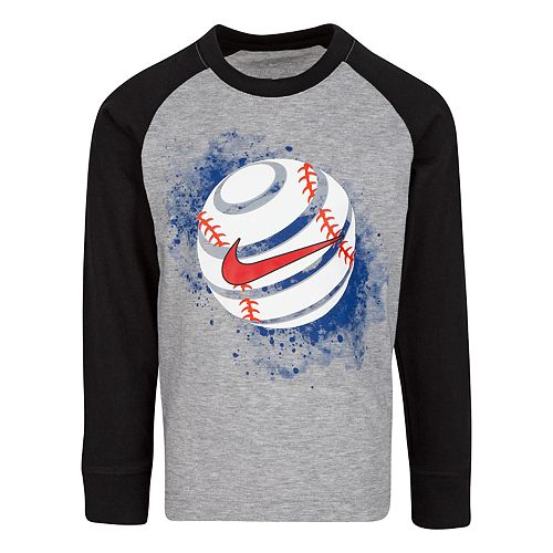 Boys' 4-7 Nike Long Sleeve Baseball Graphic T-Shirt
