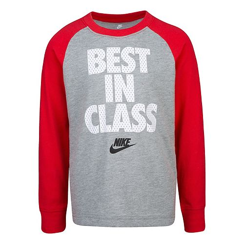 "Boys 4-7 Nike Long Sleeve Raglan ""Best In Class"" Graphic T-Shirt"