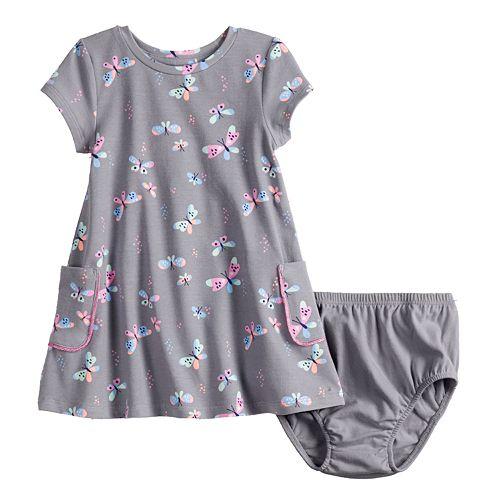 Baby Girl Jumping Beans® Short-Sleeve Pocket Dress