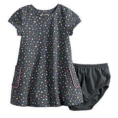 bf6bfbe00 Baby Girl Jumping Beans® Short-Sleeve Pocket Dress