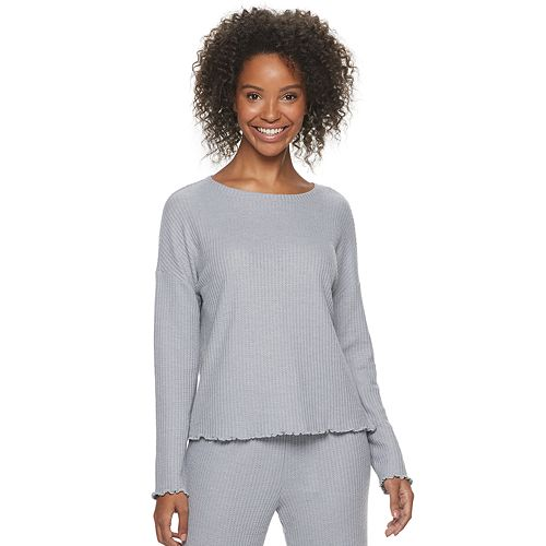 Women's SONOMA Goods for Life™ Long Sleeve Waffle Sleep Top