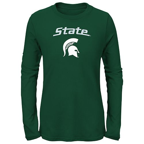 Girls 7-16 Michigan State Spartans Goal Line Shirt