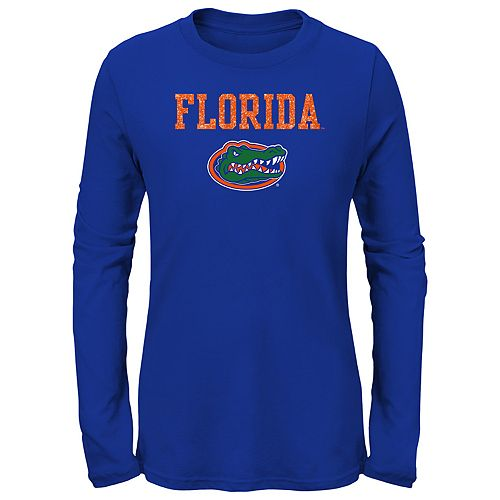 Girls 7-16 Florida Gators Goal Line Shirt