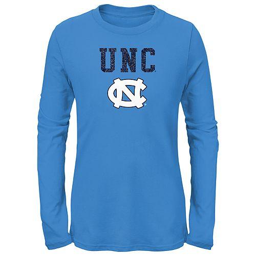 Girls 7-16 North Carolina Tar Heels Goal Line Shirt