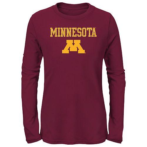 Girls 7-16 Minnesota Golden Gophers Goal Line Shirt