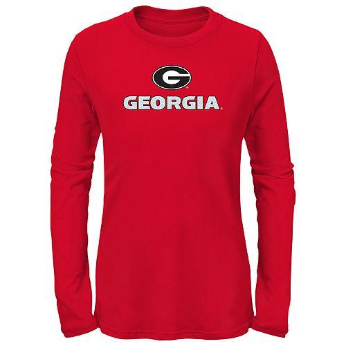 Girls 7-16 Georgia Bulldogs Goal Line Shirt