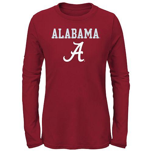 Girls 7-16 Alabama Crimson Tide Goal Line Shirt