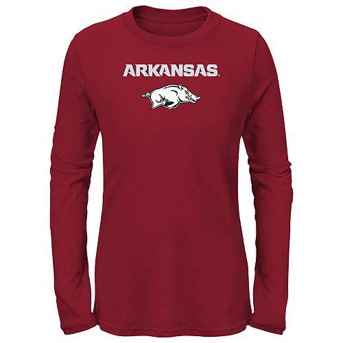 Girls 7-16 Arkansas Razorbacks Goal Line Shirt